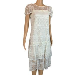 Vintage Ivory Boho Lace Wedding Dress